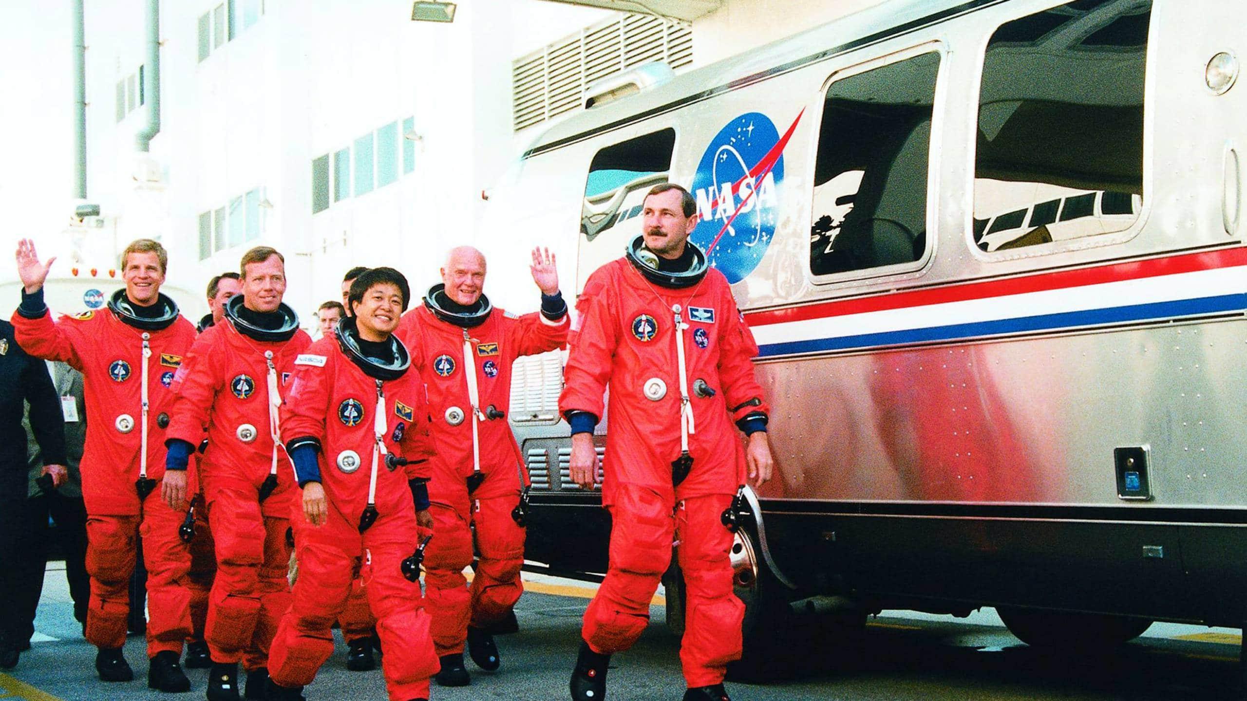 Nasa Astronauts at Quarantine AirStream